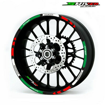"For APRILIA SHIVER 750 CUSTOM 17"" RIM STRIPES WHEEL DECAL TAPE STICKER"
