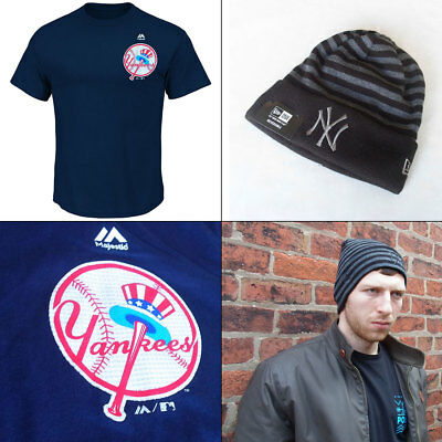 New York Yankees Officially licenced MLB Cooperstown T shirt + Yankees Knit Hat