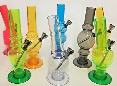 "6 "" Mini Acrylic Water Bongs,transparent Water Pipe In Different Models/colours-"