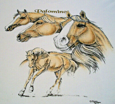"Palomino Horse T-shirt  "" Natural "" XL ( 46 ~ 48 )"
