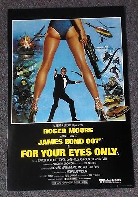 FOR YOUR EYES ONLY MINI POSTER Roger Moore as James Bond