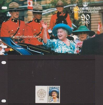 ISLE OF MAN Presentation Pack 1990 HM THE QUEEN MOTHER 90TH BIRTHDAY 10% off 5+