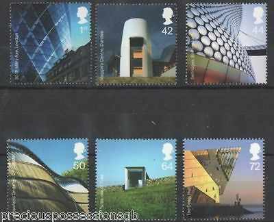 Gb Mnh Stamp Set 2006 Modern Architecture Sg 2634-2639 Umm