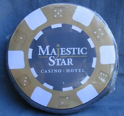 MAJESTIC STAR CASINO * HOTEL ~ sealed Large poker chip dice T-SHIRT nos