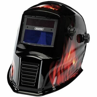 Draper Solar Powered Auto-Varioshade Welding and Grinding Helmet-Flame 38392