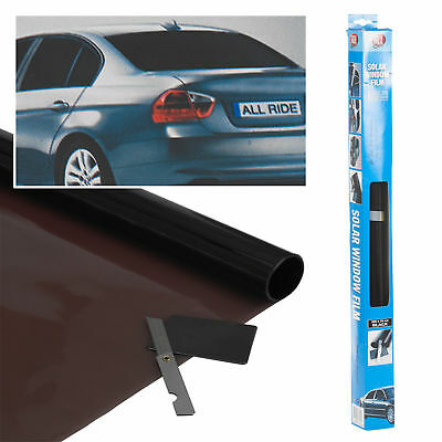 Black Car Window Tint Film Reduce Sun Glare UV Radiation Universal Kit 3m x 50cm