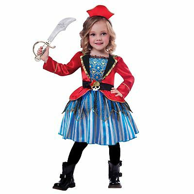 Kids Girls Toddlers Anchor Cutie Pirate Princess Fancy Dress Book Week Costume