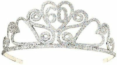 Happy 60th Birthday Silver Glitter Tiara Crown Gift Costume Accessory Novelty