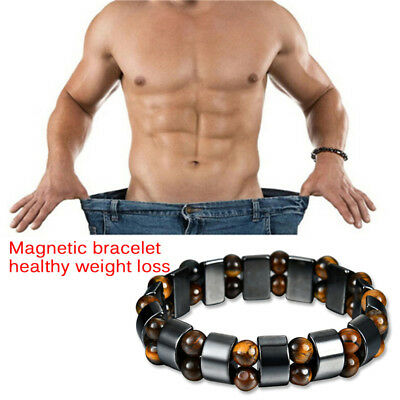 Magnetic Bracelet Hematite Stone Therapy Health Care Weight Loss Jewelry 6H