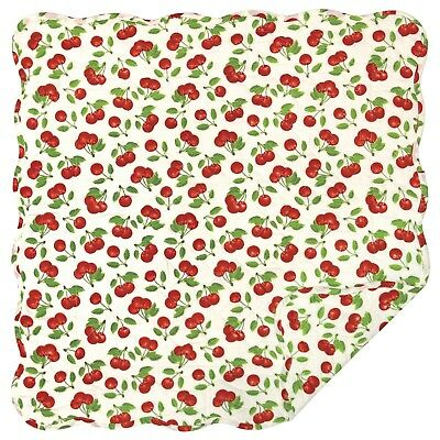 """Great Finds GINA Floral Quilted Cotton 24/"""" Square Table Topper Doll Quilt"""