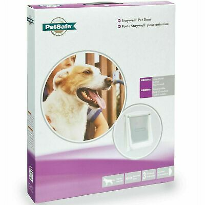 PetSafe Staywell Original 760 Large Dog Flap Pet Door Easy 2-Way Locking - White