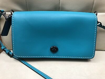 5530bb9614 low cost coach glovetanned leather 1941 dinky crossbody bag turquoise aqua  blue 37296 b725f 7bc86