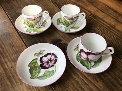 Mottahedeh Chelsea Botanical Cup & Saucer Lot Metropolitan Museum of Art MMA
