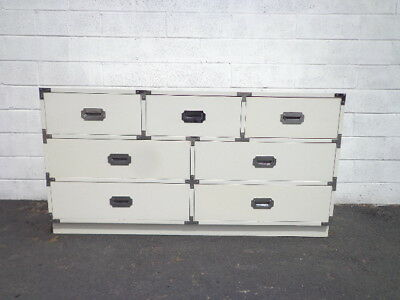 Campaign Chest Dresser Vintage Mid Century MCM Bureau Buffet Media Console Table