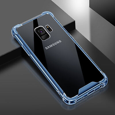 For Samsung Galaxy S9 S9 Plus Slim Hybrid TPU Bumper Clear Shockproof Case Cover