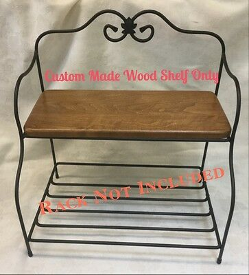 Custom Made Top Wood Shelf Only For The Longaberger Bakers Rack