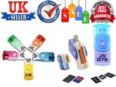 All In One USB Memory Card Reader For Almost All Types of Memory Cards By Q7S UK
