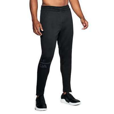 Under Armour Ua Mens Mk1 Terry Tech Tapered Black Sweat Pant Many Size Rt$55 New