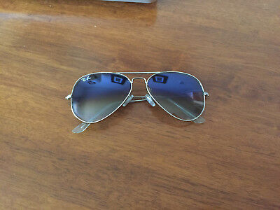 905011ae414a8 RAY-BAN AVIATOR SUNGLASSES RB3025 003 3F 58-14 preowned -  34.00 ...