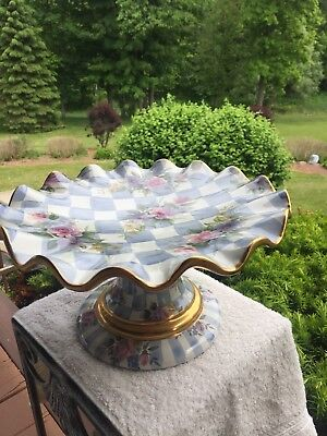 MACKENZIE CHILDS HONEYMOON Cake Stand/plate - $300.00 | PicClick