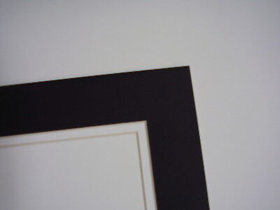 Picture Frame Mat Round Circle Cream With Black Liner 10x10 For 75