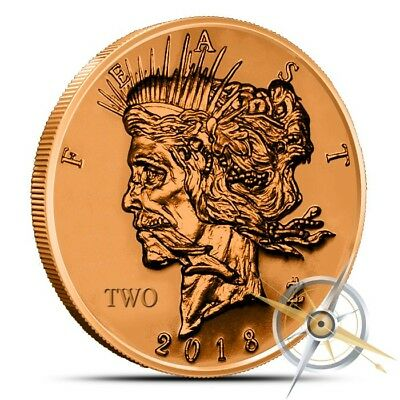 1 oz Copper Round - Feast Dollar Zombucks