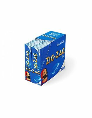 Zig Zag Blue Tobacco Slim Rolling Papers 50 BOOKLETS Full Box Smoking Cigarette
