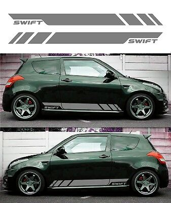 For SUZUKI SWIFT - SIDE STRIPE KIT - CAR DECAL STICKERS ADHESIVE GRAPHICS