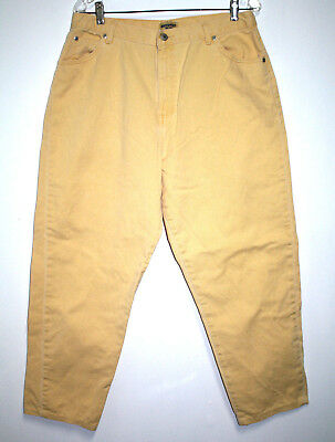 Northwest Blue Co Womens Size 18 Avg Jeans Yellow High Waist Relaxed Tapered Leg