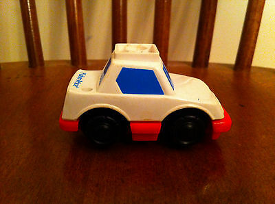 vintage 1992 Fisher Price toy car accessory White Blue Red Plastic collectible