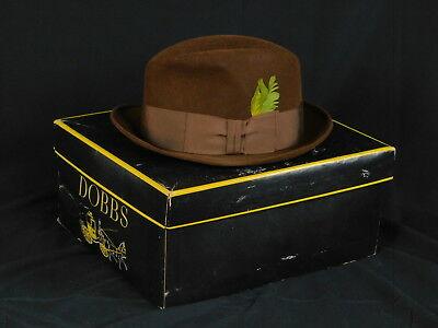 DOBBS MENS HAT Chocolate Brown Fedora Sz 7 1 4 Fifth Avenue NY 192421 -   19.52  dc348456060