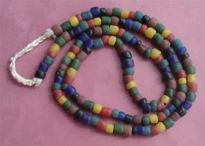 Ancient natural gemstone beads necklace