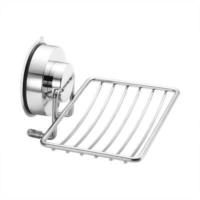 Suction Cup Soap Dish Holder Stainless Steel Wall Mount For Shower Hook