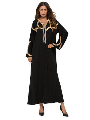c790e22f5183 gallery of plus size muslim women dress islamic long sleeve maxi abaya  kaftan arab clothes with