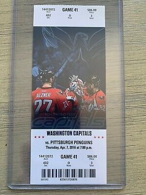 2015-16 Washington Capitals NHL Official Mint Ticket Stub - pick any game!