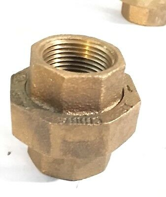 "Cast Brass Bronze 1"" Threaded Pipe Union Split Coupling  (A20)"