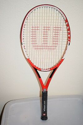 "BRAND NEW Wilson Nano Carbon Pro Tennis Racket 4 3/8"" L3Grip 110"" Racquet"