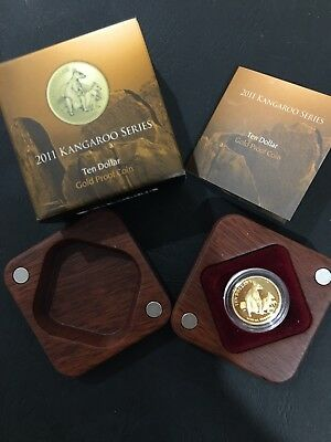 2011 Kangaroo series 1/10oz Gold Proof coin Allied Rock Wallaby RAM Mint