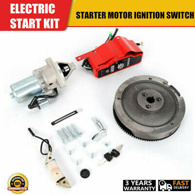 New Electric Start Kit Flywheel Starter Motor For Honda GX390 13HP GX340 11HP