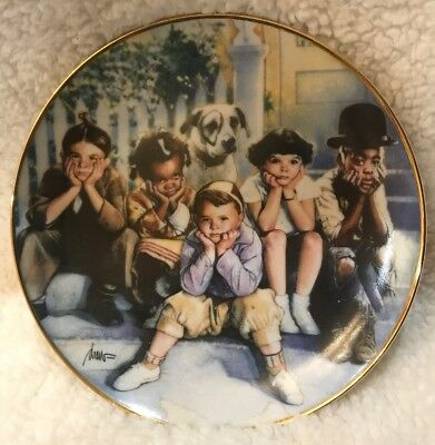 The Little Rascals Collector Plate The Franklin Mint Great Condition