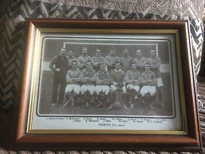 Framed & Glazed - Print of the 1905-06  EVERTON Team