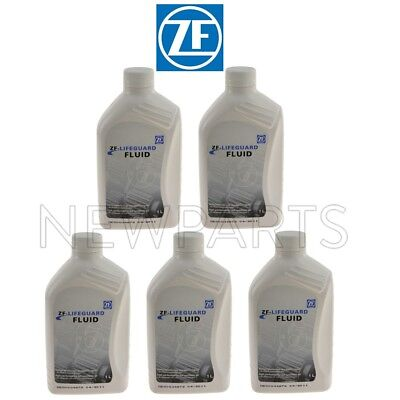 For Set of 5 Lifeguard Automatic Transmission Fluid S671090255 OEM ZF