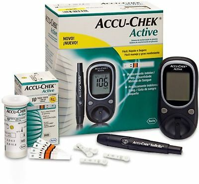 Accu-Chek Active Blood Sugar/Glucose Monitoring Device with 10 Strips