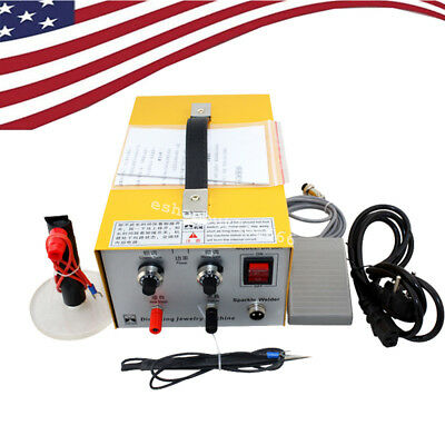 USA Pulse Sparkle Spot Welder 110V/220V Electric Jewelry Welding Machine DX-30A