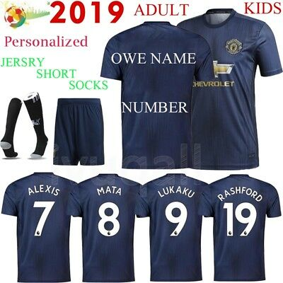 Adult Football Soccer Kit Short Sleeve Sportswear Jersey Kids Boys Youth & Socks