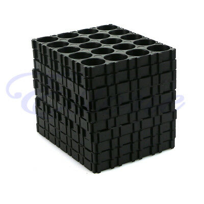 10x 18650 Battery 4x5 Cell Spacer Radiating Shell Pack Plastic Heat Holder Black