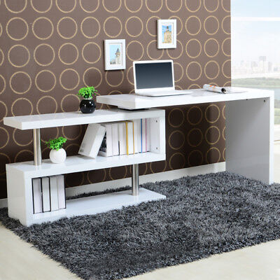 Super High Quality LShaped Corner Computer Desk Compact Laptop Table Home Office