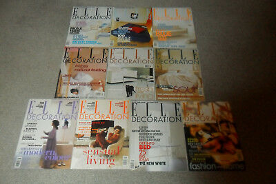 10 ELLE DECORATION Magazines From 1998-99