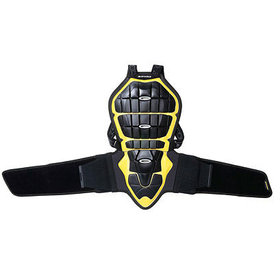 Spidi Safety Lab Warrior Black / Yellow Moto Back Protector 160-170 | All Sizes