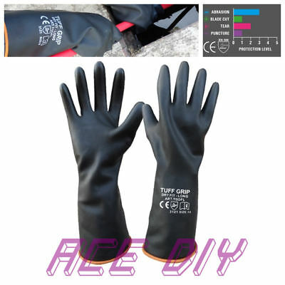 Dry Fit Long Gloves   Soft Rubber Arm Gauntlet Safety Water Proof Work Glove